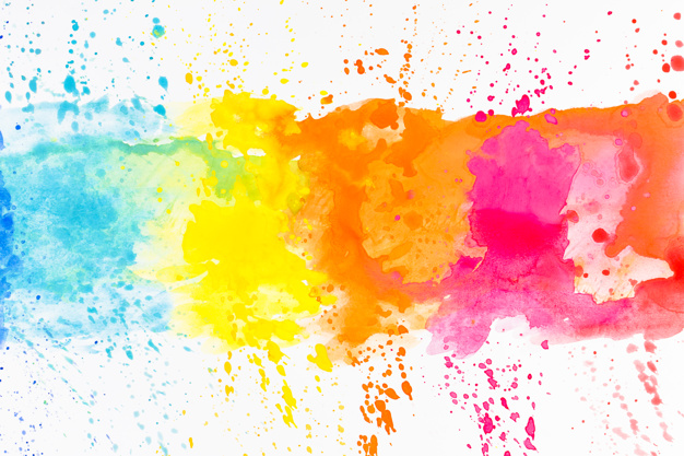 bright splashes of dye on white - 6 Graphic Design Tips Every Starting Designer Should Know