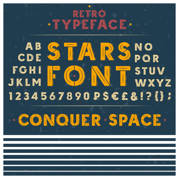 retro font the latin alphabet uppercase capital letters numbers 1441 1718 - 6 Graphic Design Tips Every Starting Designer Should Know