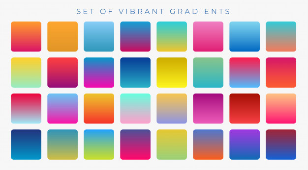 bright vibrant set of gradients background 1017 14552 - 6 Graphic Design Trends to Dive into in 2018